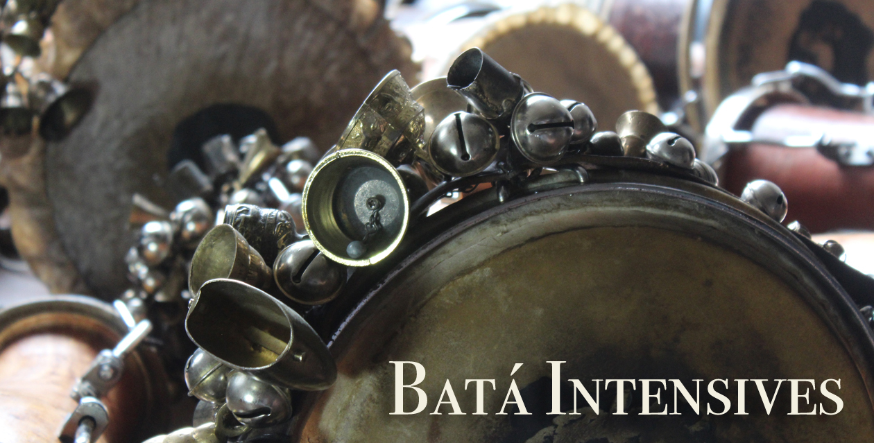 Intensive classes bata workshops for those who love to learn to play the Cuban bata drums.